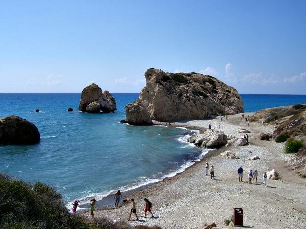 Aphrodites Rots bij Paphos op Cyprus