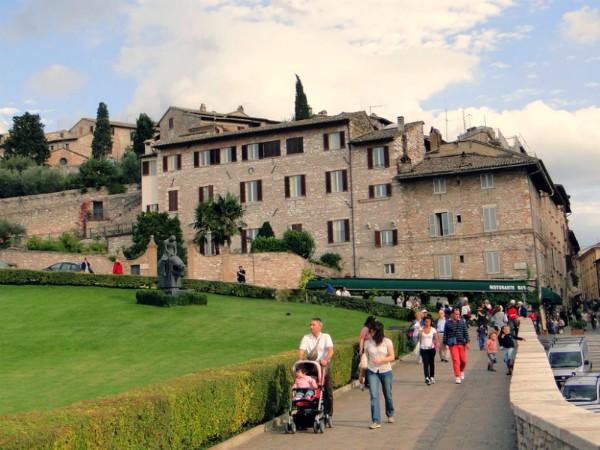 Het stadje Assisi