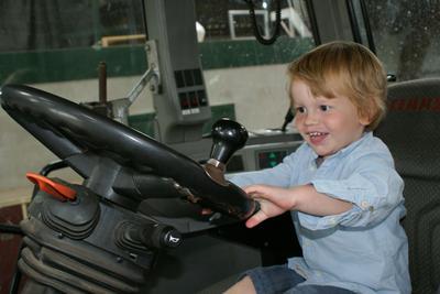 Rens in de tractor!