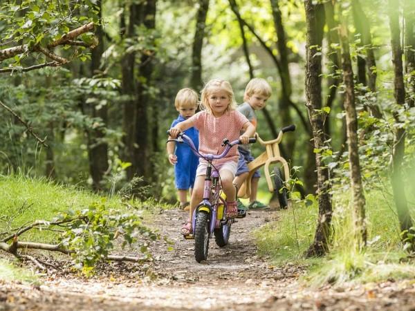 peuters fietsen bij het Land van bartje