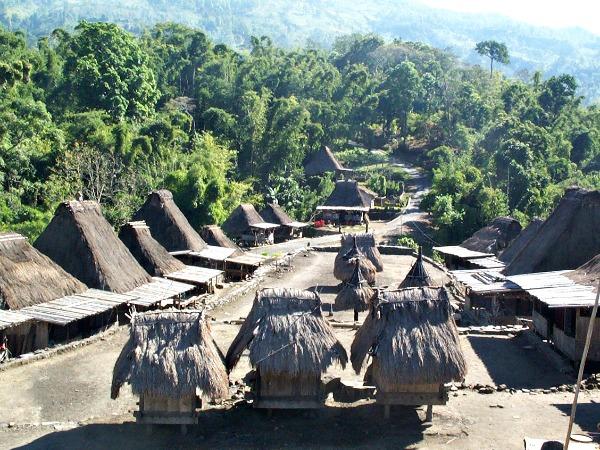 Het traditionele dorp Bena op Flores