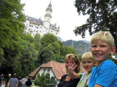 Tijdens de wandeling naar Slot Neuschwanstein