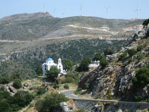 Prachtige weg langs de dorpjes in het binnenland