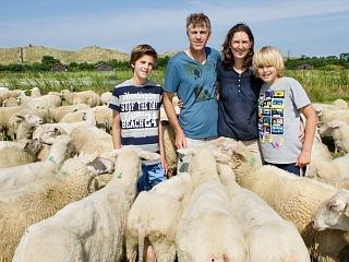Tussen de schapen bij boerderij de Zeekraal