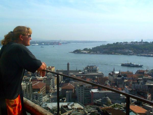 Uitzicht over de Bosporus in Istanboel