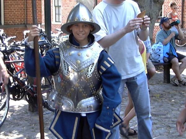 In Bourtange mag je je ook als Middeleeuws soldaat verkleden