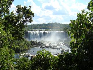 De Iguacu watervallen in Brazilië
