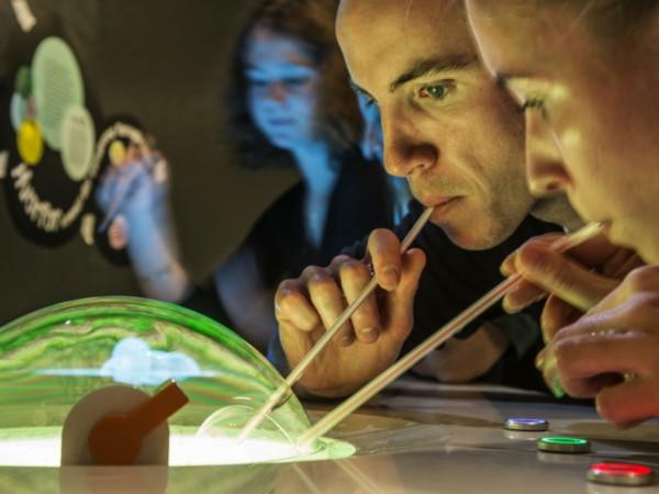 Het bubblearium in het Experimentarium