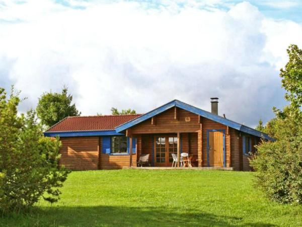 Houten bungalows op Vakantiepark Lauterdorfle