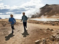 Lekker rennen in de IJslandse natuur