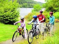 Fietsen langs de Schotse meren