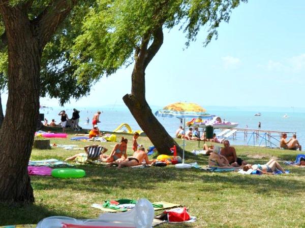Waterpret bij het Balatonmeer