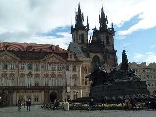 Het centrale plein in Praag