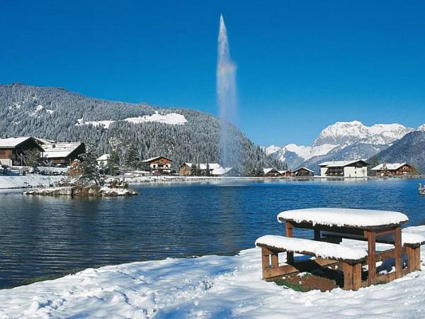 Chatel winter aan het meer