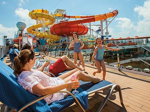 waterpret tijdens het cruisen