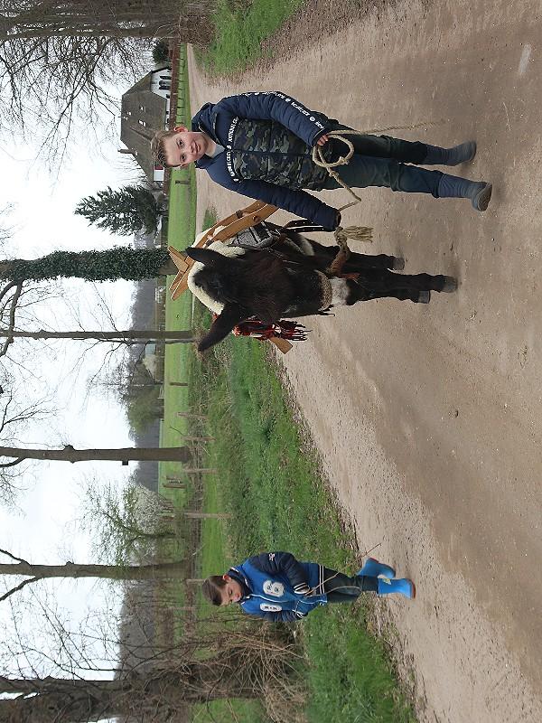 Wandelen met Joris de ezel.