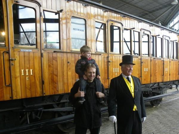 De dikke controleur van Thomas de Trein in het Spoorwegmuseum