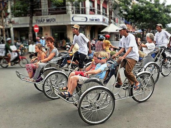 Fietstaxi in Ho Chi Minh City