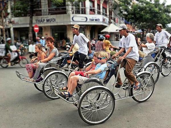 Fietstaxi in Ho Chi Minh City