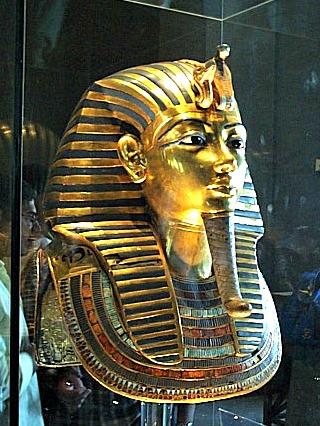 Het beroemde dodenmasker van pharao Toetanchamon