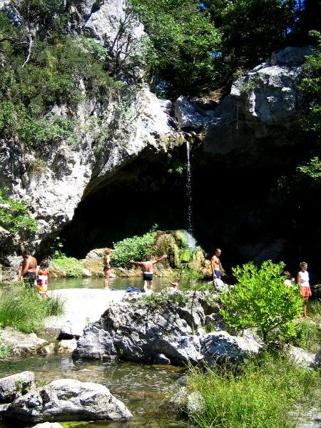 Drymona waterval op Evia