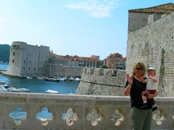 Kijk mam, wat is Dubrovnik een mooie stad!