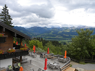 Uitzicht vanaf het Allgäuer Berghof