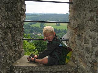 Klimmen in de Kronenburg ruïne