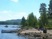 Eilandje bij Camping Yttermalung