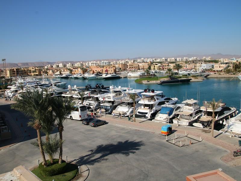 De haven van El Gouna