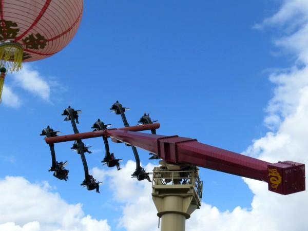 De Flying Ninjago attractie in Legoland Duitsland