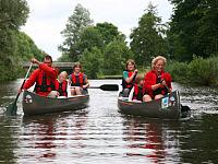 Kanoën bij het Weddermeer
