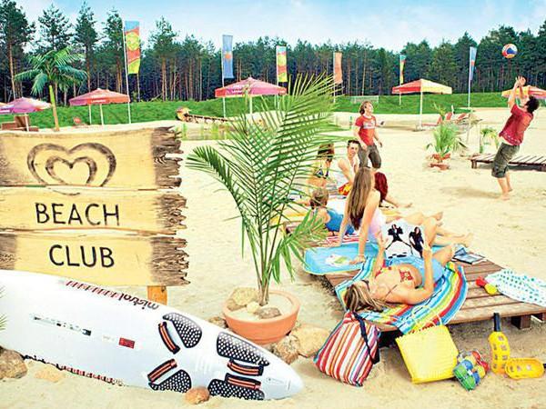 Het strandje bij het Holiday Park van Heide-Park
