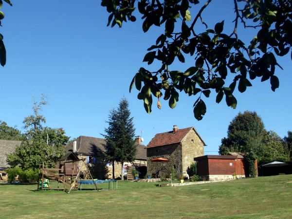 De tuin en vakantiehuizen van Het Gras is Groener