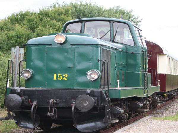 De historische trein van Haderslev naar Vojens