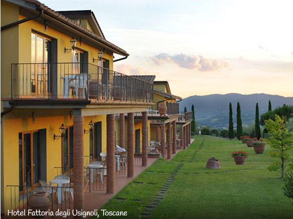 het landelijke hotel in Toscane