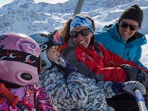 Met de kids in de skilift