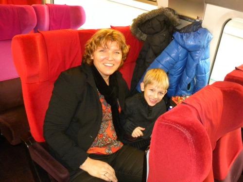 In de Thalys naar Parijs