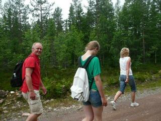 onderweg op de Hällberg-wandelroute