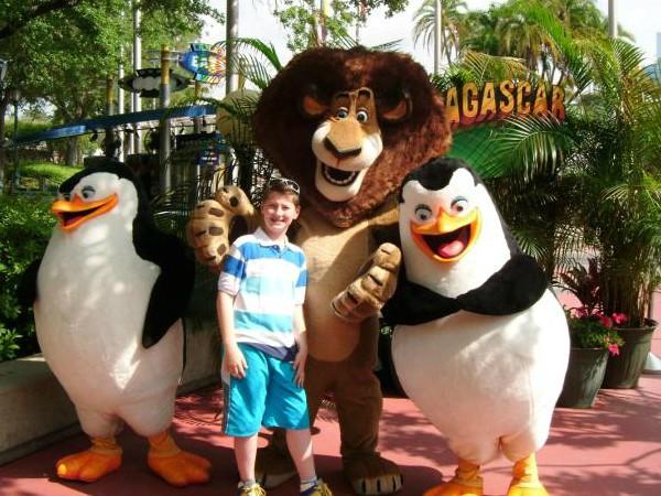 Poseren met de dieren van Madagascar bij Universal Islands of Adventure