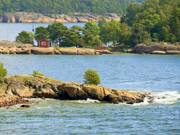 Mooie eilanden voor de kust van Finland