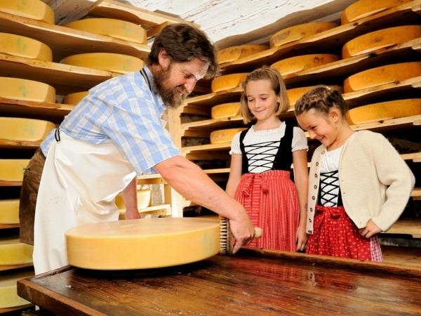 Kijken hoe kaas gemaakt wordt
