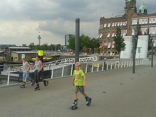 Kangoo jumpen voor hotel New York in Rotterdam