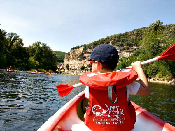Kanoën op de rivier Dordogne