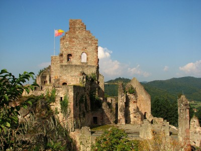De kasteelruïne Hochburg in Emmerdingen
