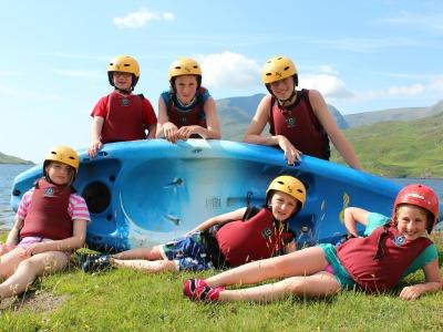 Kayakken met kids in Ierland