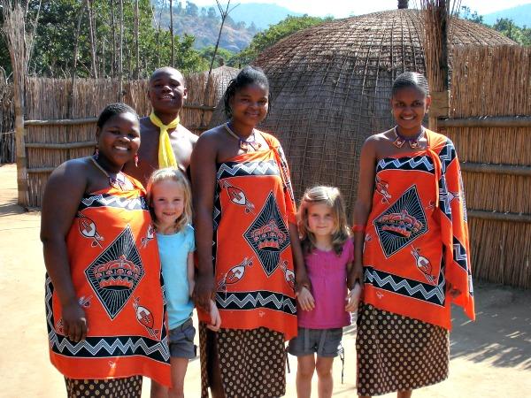 Op bezoek bij een stam in Zuid-Afrika