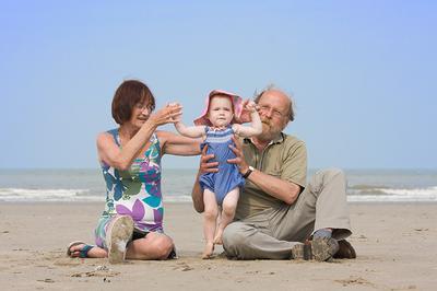 Met opa en oma