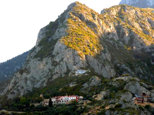 Een paar van de kloosters op Mount Athos