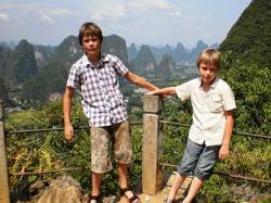 In het prachtige landschap bij Yangshuo